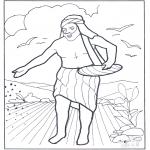 Bibel Ausmalbilder - Gleichnis vom Sämann