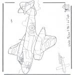 Allerhand Ausmalbilder - Gloster Meteor