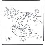 Ausmalbilder für Kinder - Glückbärchen 2