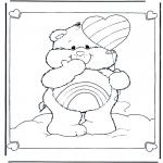 Ausmalbilder für Kinder - Glückbärchen Ballon