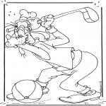 Ausmalbilder Comicfigure - Goofy 2