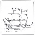 Allerhand Ausmalbilder - Grosses Segelboot