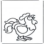 Allerhand Ausmalbilder - Hähnchen