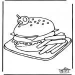 Allerhand Ausmalbilder - Hamburger