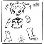 Malvorlagen Basteln - Hampelfigur Winx