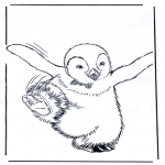 Ausmalbilder Comicfigure - Happy Feet 4
