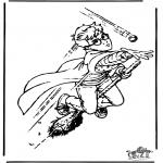 Ausmalbilder Comicfigure - Harry Potter 11