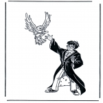 Ausmalbilder Comicfigure - Harry Potter 6