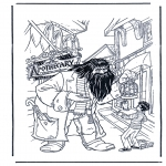 Ausmalbilder Comicfigure - Harry Potter 7