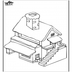 Allerhand Ausmalbilder - Haus 4