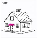 Allerhand Ausmalbilder - Haus 5