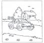 Häuschen und Auto