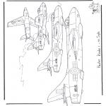 Allerhand Ausmalbilder - Hawker Hunter