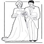 Ausmalbilder Themen - Heiraten