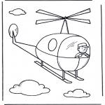 Ausmalbilder für Kinder - Helikopterchen