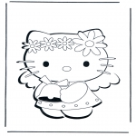 Ausmalbilder Comicfigure - Hello Kitty 1