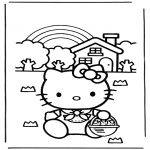 Ausmalbilder Comicfigure - Hello Kitty 10
