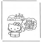 Ausmalbilder Comicfigure - Hello Kitty 11