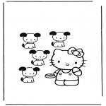 Ausmalbilder Comicfigure - Hello Kitty 12
