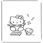 Ausmalbilder Comicfigure - Hello kitty 13