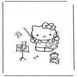 Ausmalbilder Comicfigure - Hello Kitty 14