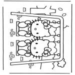 Ausmalbilder Comicfigure - Hello Kitty 15