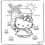 Ausmalbilder Comicfigure - Hello Kitty 16