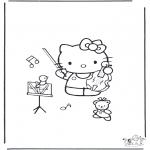 Ausmalbilder Comicfigure - Hello Kitty 18