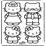 Ausmalbilder Comicfigure - Hello Kitty 22