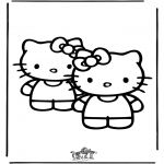 Ausmalbilder Comicfigure - Hello Kitty 25