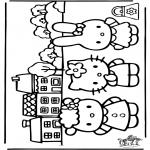 Ausmalbilder Comicfigure - Hello Kitty 26