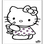 Ausmalbilder Comicfigure - Hello Kitty 26