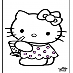 Ausmalbilder Comicfigure - Hello Kitty 28