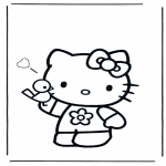 Ausmalbilder Comicfigure - Hello Kitty 3