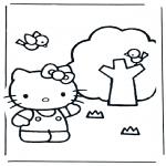 Ausmalbilder Comicfigure - Hello Kitty 4