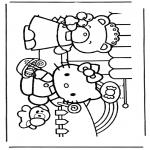 Ausmalbilder Comicfigure - Hello Kitty 5