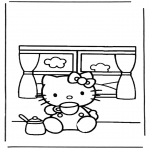 Ausmalbilder Comicfigure - Hello kitty 6