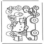 Ausmalbilder Comicfigure - Hello kitty 7