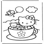 Ausmalbilder Comicfigure - Hello kitty 9
