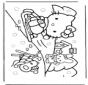 Hello Kitty im Schnee