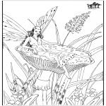 Allerhand Ausmalbilder - Herbst Elfen 2