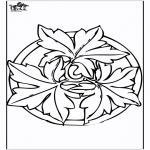 Malvorlagen Mandalas - Herbst Mandala 2