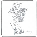 Allerhand Ausmalbilder - Hermes