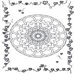 Malvorlagen Mandalas - Herzen Mandala 3
