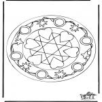 Malvorlagen Mandalas - Herzen Mandala 5