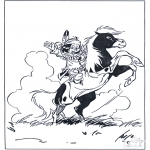Ausmalbilder Comicfigure - Hiawata 2