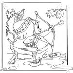 Ausmalbilder Comicfigure - Hiawatha