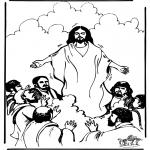 Bibel Ausmalbilder - Himmelfahrt 1