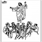 Bibel Ausmalbilder - Himmelfahrt 2