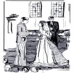 Ausmalbilder Themen - Hochzeit in der Kirche